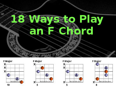 18 ways to play the f chord on guitar. Black Bedroom Furniture Sets. Home Design Ideas