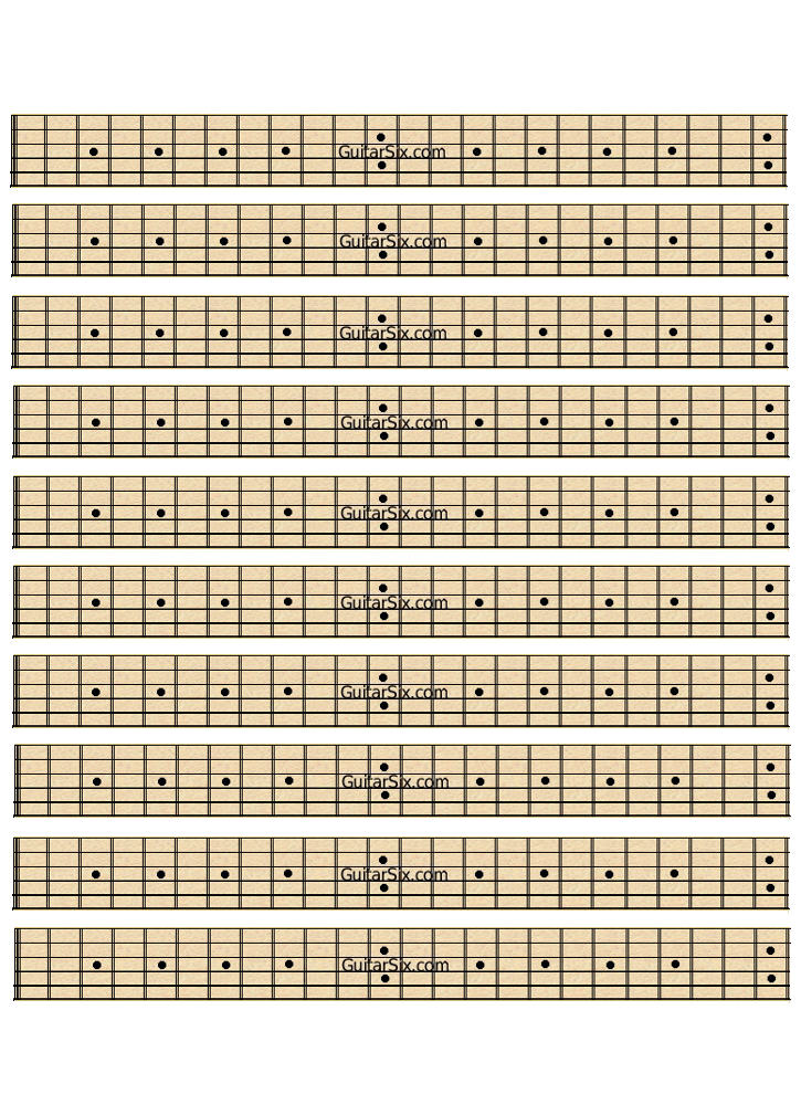 blank maple fretboard paper