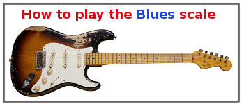 learn how to play the blues scale on guitar