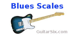 Blues scale diagrams and charts