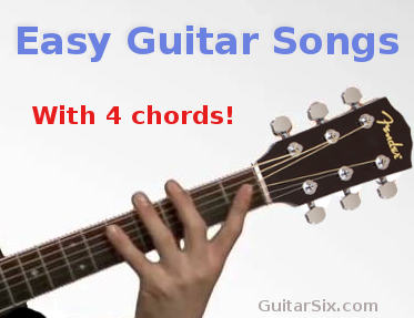 easy guitar songs with 4 chords. Black Bedroom Furniture Sets. Home Design Ideas