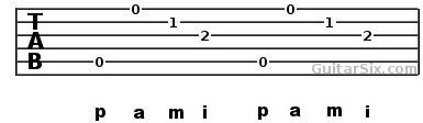 Finger picking pattern example 4