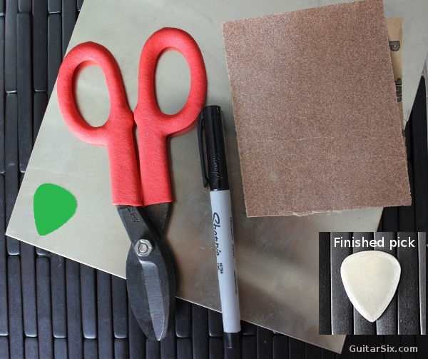 materials needed to make guitar picks
