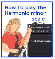 learn how to play and memorize harmonic minor scales for guitar