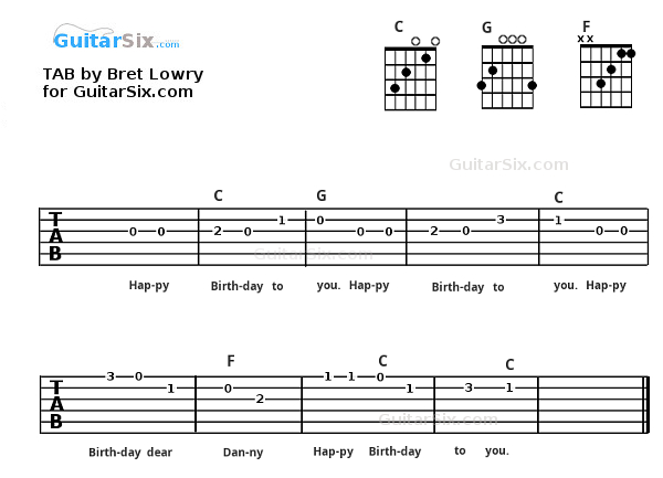 Guitar guitar tabs pictures : Guitar : guitar tabs happy birthday to you Guitar Tabs Happy ...